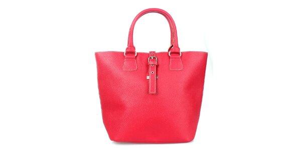 Dámska červená kabelka s oranžovými lemami Maku Barcelona