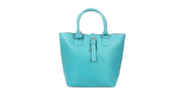 Dámska tyrkysová kabelka s modrými lemami Maku Barcelona