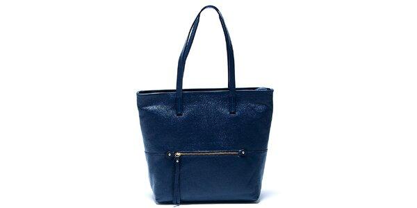 Elegantná modrá kožená kabelka Renata Corsi