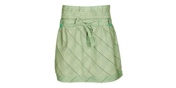 Dámska zeleno-šedá károvaná sukňa Loap