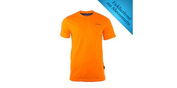 Pánske oranžové tričko s logom Envy