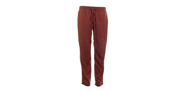 Dámske oranžovo vzorované nohavice Tantra