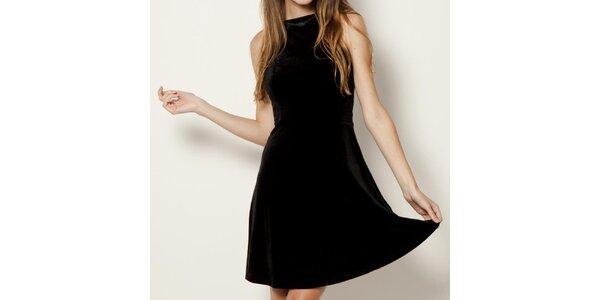 Dámske čierne šaty bez rukávov Tantra