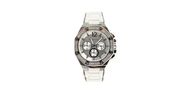 Dámske oceľové hodinky s kryštálikmi Michael Kors