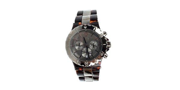 Unisexové hodinky Michael Kors v hnedej farbe