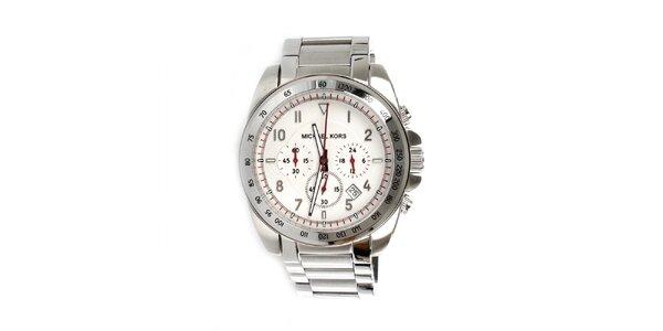 Pánske oceľové strieborné hodinky Michael Kors