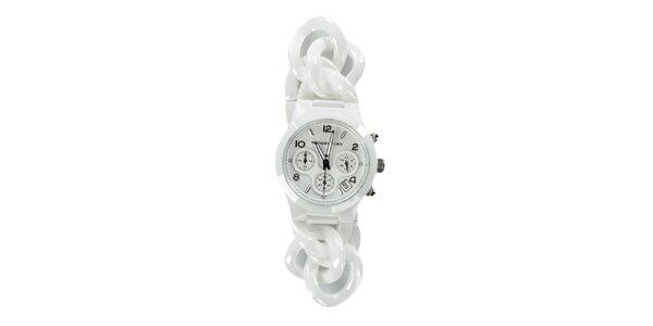 Dámske biele keramické hodinky Michael Kors