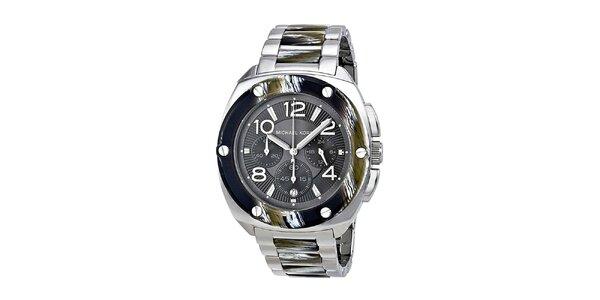 Dámske hodinky s chronografom a dátumovkou v striebornom prevedení Michael Kors