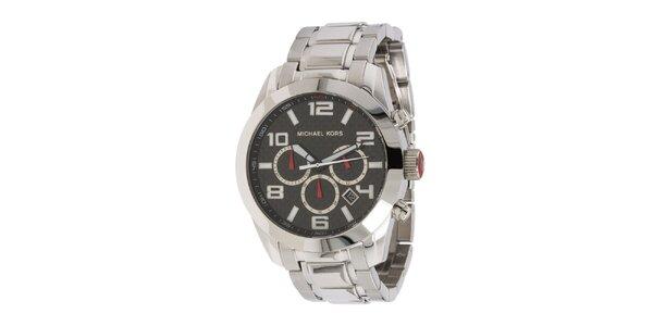 Pánske strieborno tónované hodinky s chronografom Michael Kors