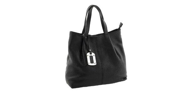 Dámska čierna kabelka s visačkou Classe Regina