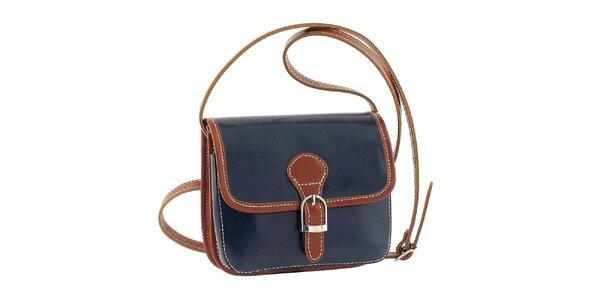 Dámska modrá kabelka s patentkovým zapínaním Classe Regina