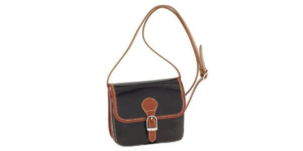 Dámska tmavo hnedá kabelka s patentkovým zapínaním Classe Regina