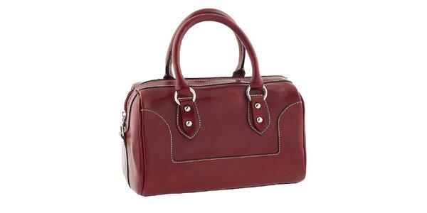 Dámska červená kufríková kabelka Classe Regina