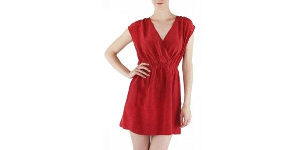 Dámske červené hodvábne šaty Guess