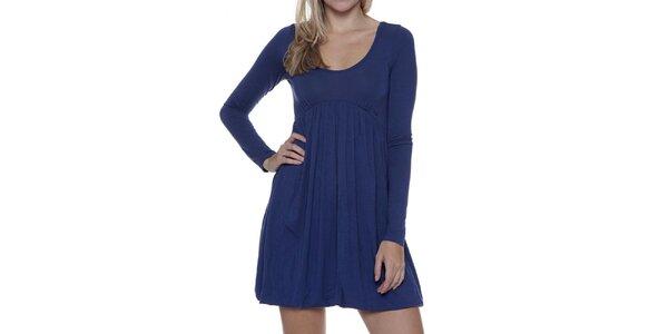 Dámske modré šaty s dlhým rukávom Guess