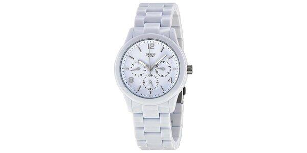 Dámske biele náramkové hodinky Guess