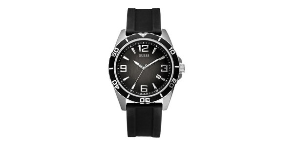 Pánske čierne analogové hodinky Guess