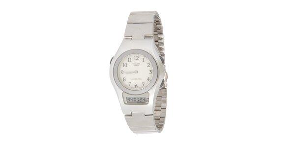 Dámske oceľové hodinky Casio s kombinovaným ciferníkom