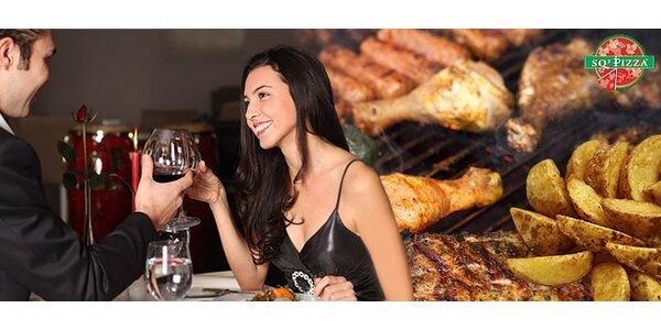 Misa grilovaného mäsa pre 2 osoby