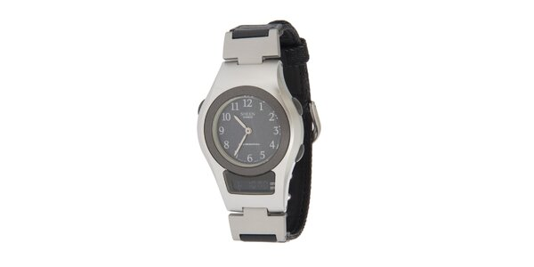 Dámske čierno-strieborné hodinky Casio s kombinovaným ciferníkom