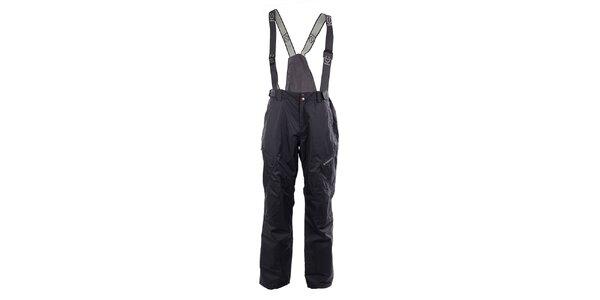 Pánske šedé lyžiarske nohavice Fundago s trakmi