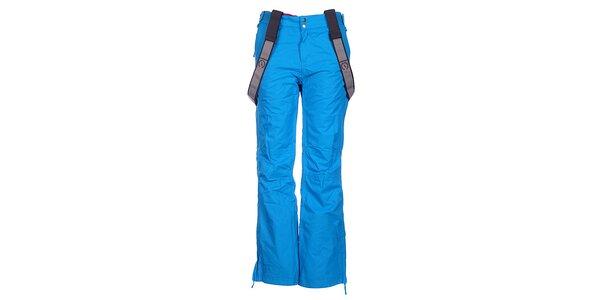Dámske tyrkysovo modré lyžiarske nohavice Fundango s membránou