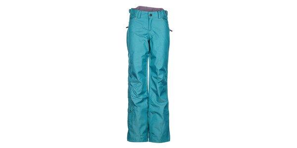 Dámske tyrkysové športové nohavice Fundango s membránou