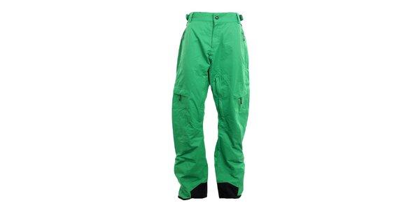 Pánske smaragdovo zelené funkčné nohavice Fundango