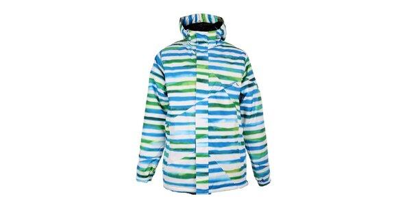 Pánska modro-zeleno-biela zimná bunda Fundango