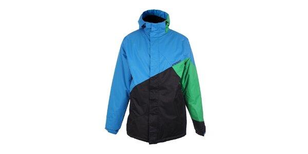 Pánska modro-zeleno-čierna zimná bunda Fundango