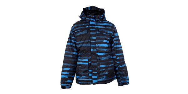 Pánska modrá pruhovaná bunda Fundango
