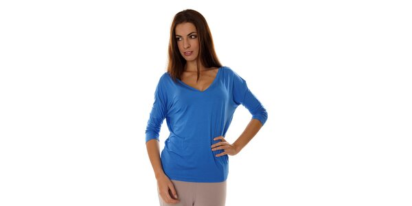 Dámsky žiarivo modrý pyžamový top Calvin Klein