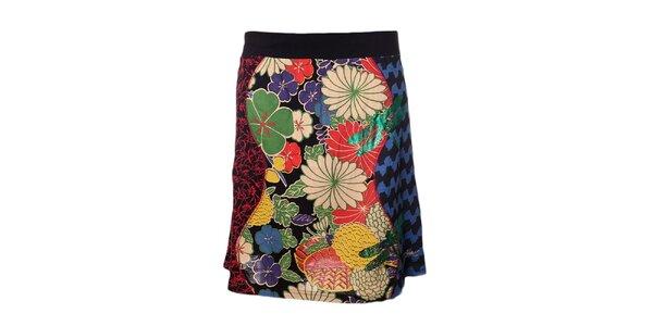 Dámska sukňa s farebnou potlačou a vážkou Desigual