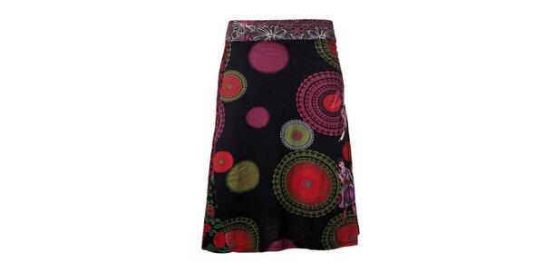 Dámska farebná sukňa s dámami Desigual