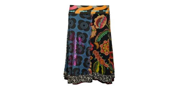 Dámska farebná sukňa so širokým pásom Desigual