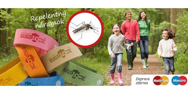 4 repelentné náramky Bugs Lock