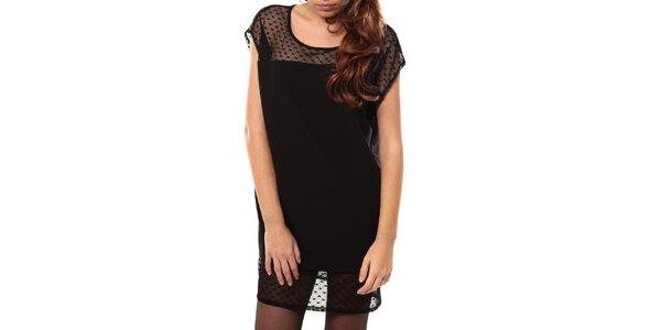 Dámske čierne šaty s odhaleným chrbátom My Little Poesy