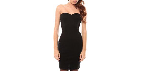 Dámske čierne šaty bez ramienok My Little Poesy