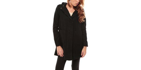 Dámsky čierny kabát s kapucňou My Little Poesy