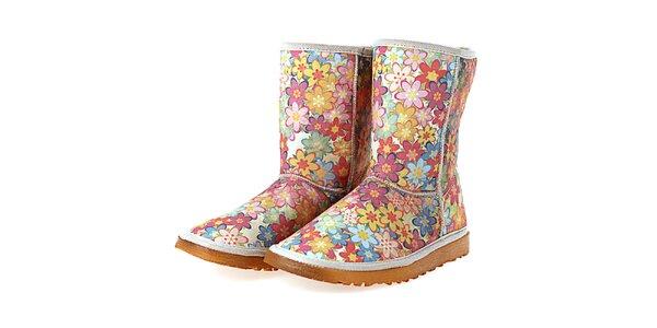 Dámske farebné topánky s potlačou kvetinovej záhrady Elite Goby