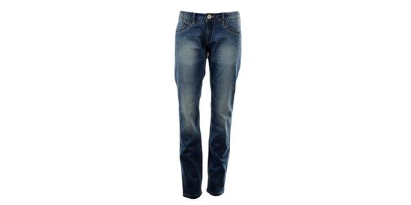 Dámske modré džínsy s šisovaním Exe Jeans