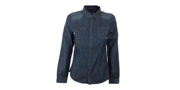Dámska modrá džínsová košeľa Exe Jeans