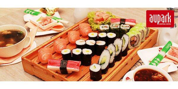 Delikátne sushi menu v Auparku