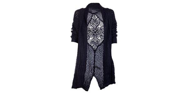 Dámsky tmavo modrý kardigan Uttam Boutique