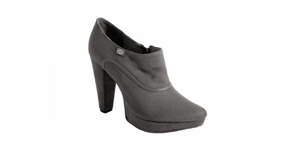Šedivé topánky na podpätku Red Hot