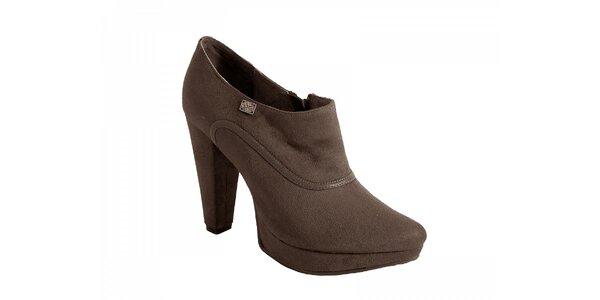 Hnedé topánky na podpätku Red Hot