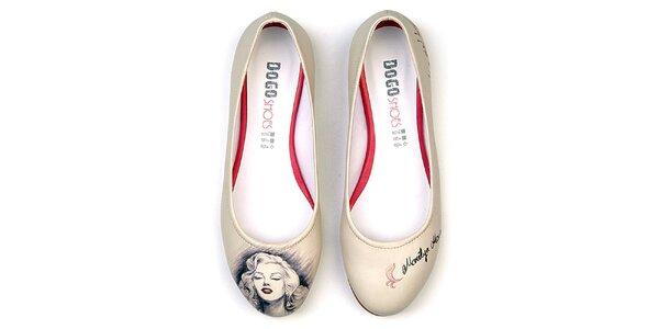 Dámske balerínky Dogo s motívom Marilyn Monroe
