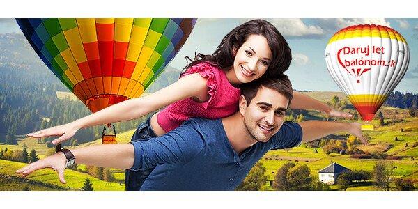 Romantický hodinový let balónom