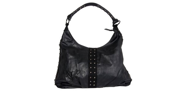 Dámska čierna kabelka Xti s kovovými cvokmi