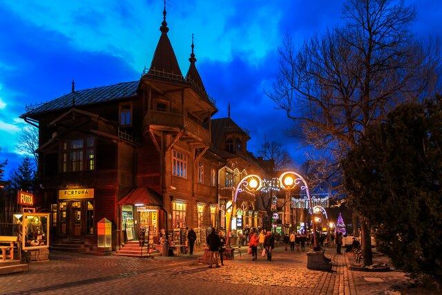 Ulica Krupówki v Zakopanom